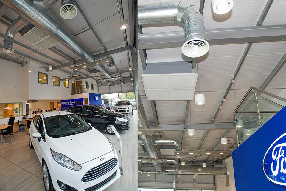 Monodraught Cool-phase helps Ford's Retail Car Showrooms Go Green