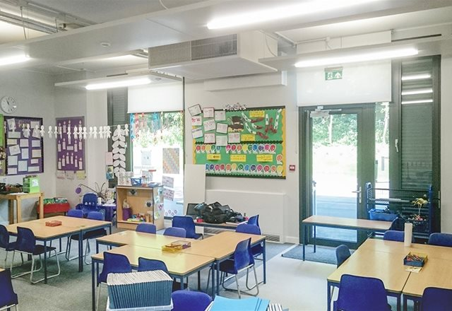 Healthy ventilation system performing in outstanding school