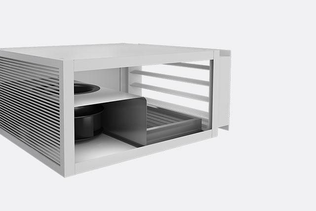 Hybrid Ventilation System : Monodraught natural ventilation cooling and lighting